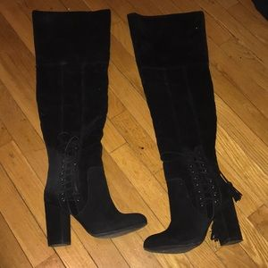 Shoes - Shoe dazzle thigh high boots.